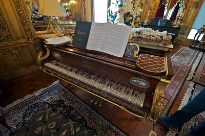 Laurel Court - Inlaid Mother-of-pearl Steinway piano in music room