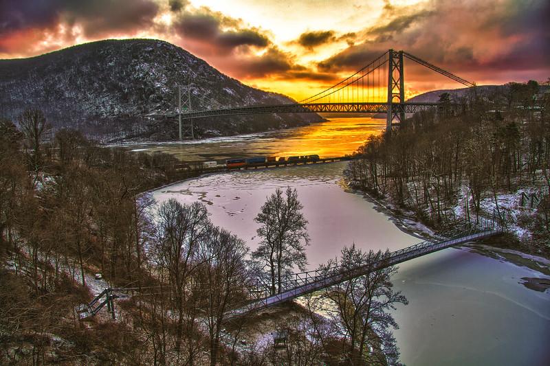 Three Bridges Winter -Allen Levine