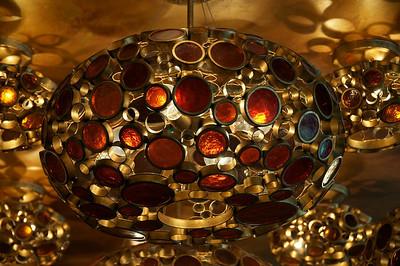 Moerlein Lager House - lighting fixture, made from beer bottles