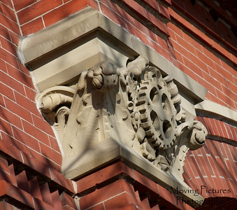 Music Hall 365 Cincinnati- architectural detail highlighting industrial exposition use of building (north addition)