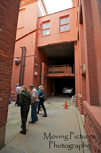 Music Hall - former carriage ramp & entrance - now closed in