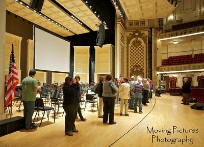 Music Hall - Springer auditorium - on the stage