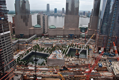 Where the world trade center buildings once stood