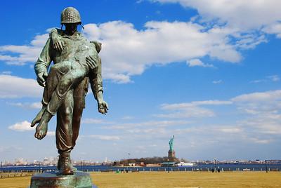 Memorial statue, Liberty State Park, NJ