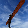 "<font face=""Lucida Calligraphy, comic sans, verdana""><font color=""#e9efb7"">Colourful Angel of the North"