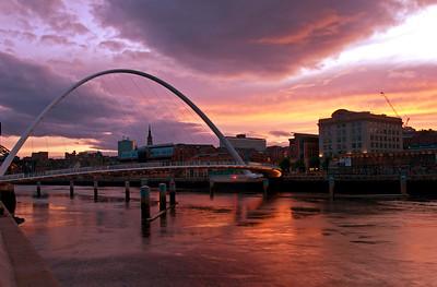 Sunset Over the Tyne