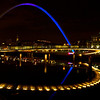 "<font face=""Lucida Calligraphy, comic sans, verdana""><font color=""#e9efb7"">Millennium Bridge at Night"