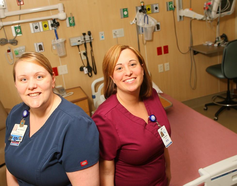 . Oneida Healthcare RN Jessica Newman and BSN Brandee DuBois in the ICU at the hospital on Thursday, April 30, 2015 in Oneida.JOHN HAEGER-ONEIDA DAILY DISPATCH @ONEIDAPHOTO ON TWITTER