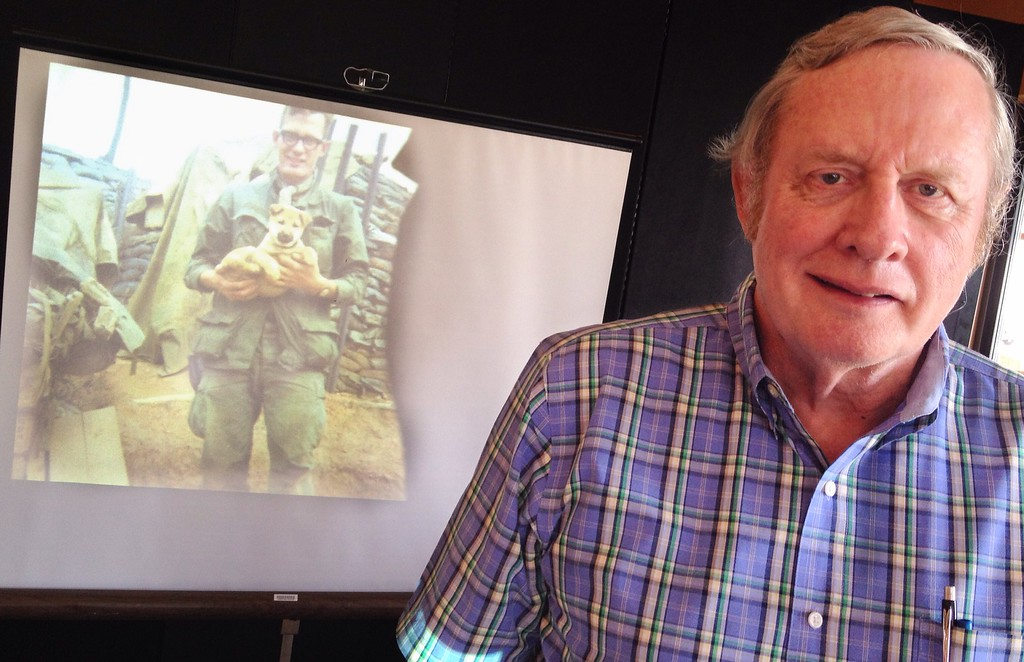 . Harry Hood talks about his tour of duty in Vietnam with the U.S. Army from April 1969 to February 1970 during an Oneidas\' Club meeting on Thursday, May 28, 2015 in Oneida.JOHN HAEGER-ONEIDA DAILY DISPATCH @ONEIDAPHOTO ON TWITTER
