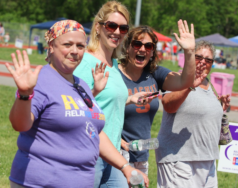 . Care givers and Survivors  make a lap  during  the annual Madison County Relay for Life on Saturday, May 30, 2015 at Oneida High School track.JOHN HAEGER-ONEIDA DAILY DISPATCH @ONEIDAPHOTO ON TWITTER