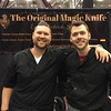 Danon Coleman (left) and Will Simpson at the Simply Great Stuff booth