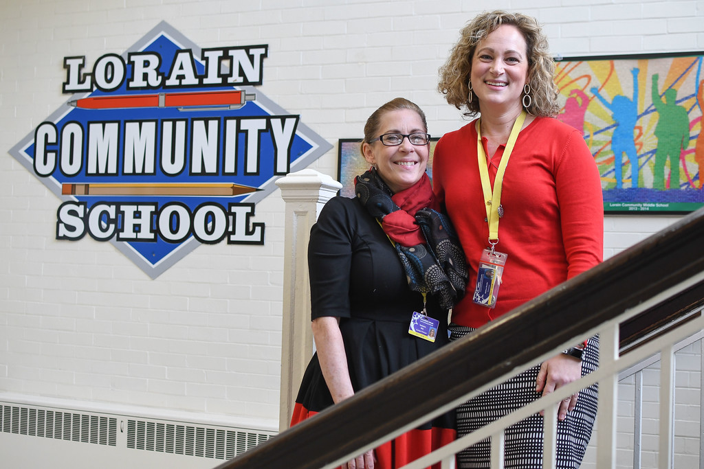 . Eric Bonzar�The Morning Journal<br> Principal Melisa Shady, right, and Assistant Principal Kammera Rice oversee the daily operations of Constellation Schools: Lorain Community Elementary and Middle.