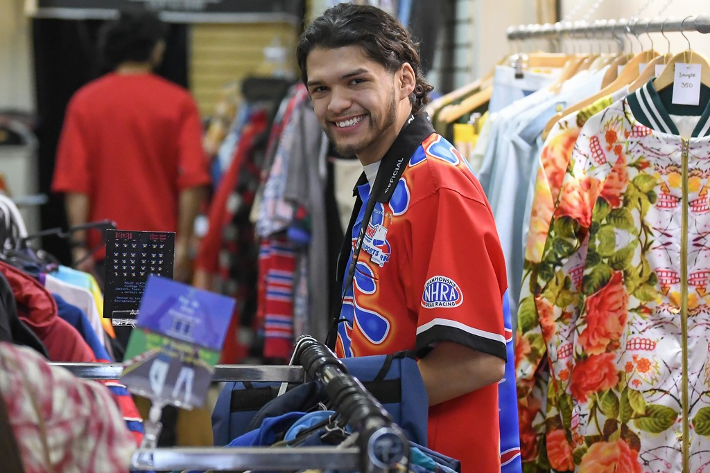 . Eric Bonzar�The Morning Journal<br> Twenty-year-old Reinaldo Contreras III, of Lorain, brings his RICHES 2 RELICS pop up shop to Jevon Terance Boutique, 615 Broadway Ave., Feb. 16-17. Contreras will be on hand to fill all your vintage ware needs, from 10 a.m. to 6 p.m., Feb. 17.