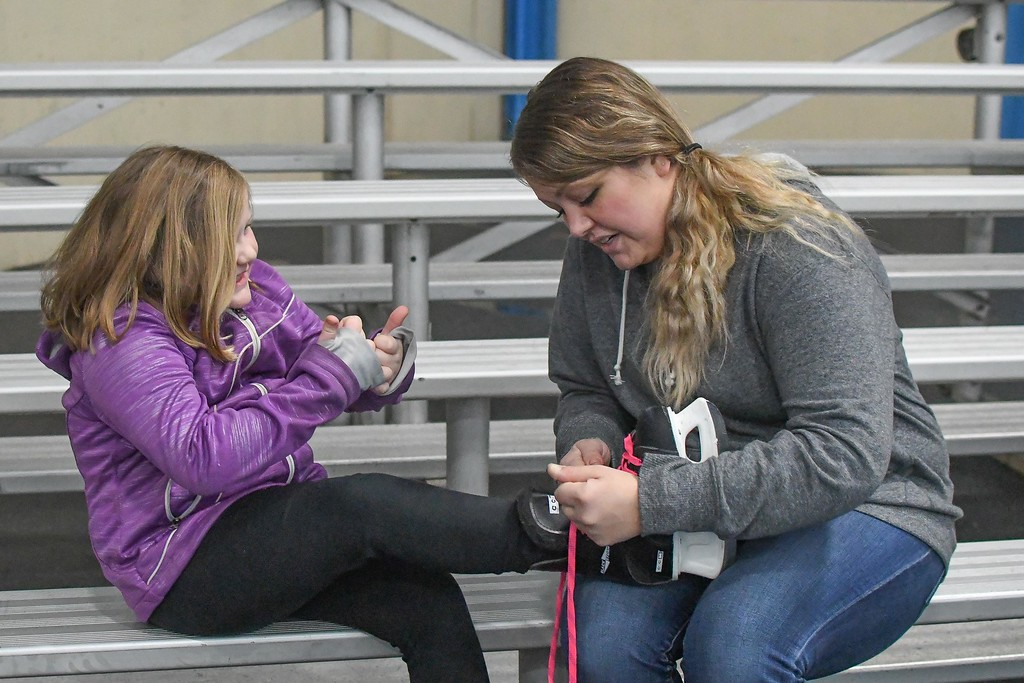 . Eric Bonzar�The Morning Journal<br> North Park Ice Arena, located at 901 Duffey St., in Elyria, held a holiday open skate in observance of President\'s Day, Feb. 19, 2018.