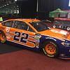 Jokey Logano's Mo. 22 NASCAR ride.