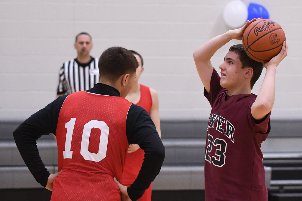 . Eric Bonzar�The Morning Journal<br> Lorain High School played host to the Unified Special Olympics Basketball Tournament, March 21, 2018.
