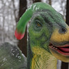 Eric Bonzar—The Morning Journal<br /> From April 8-May 7, visitors can experience the Metro Parks' dinosaur exhibit at its Carlisle Reservation Visitor Center, 12882 Diagonal Road, for a fee of $3 per person. Children under 3 years old are free. The exhibit is open daily from noon to 6 p.m.