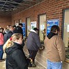 Lines at the ticket windows, March 18, single-game sales begin.
