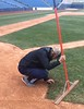 Attending to details, head groundskeeper Christo Wallace, March 24