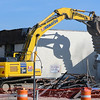 Eric Bonzar—The Morning Journal <br /> A crew from Cleveland-based B & B Wrecking and Excavating  Inc. began demolition of Erieview Motel, 2800 W. Erie Ave., Lorain, April 18, 2017.