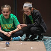 Eric Bonzar—The Morning Journal<br /> Ten-year-old Jillian George, left, and Gianna Vrooman, 11, demonstrate how to operate their Sphero, May 4, 2017. The fifth graders from Amherst School Districts' STEAM Team were on hand for demonstrations during the fourth annual Lorain County Superintendent Summit, held at the Lorain County Community College John A. Spitzer Conference Center, May 4, 2017.