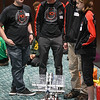 "Eric Bonzar—The Morning Journal<br /> Members of Brookside High School's VEX Robotics team 6403A were on hand for demonstrations of their robot ""Bruce Wayne"" during the fourth annual Lorain County Superintendent Summit, held at the Lorain County Community College John A. Spitzer Conference Center, May 4, 2017."