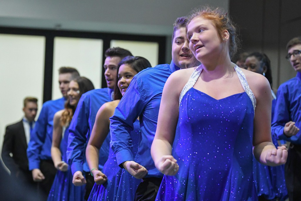 . Eric Bonzar�The Morning Journal Midview High School\'s Midview Express and Senior Choir perform for guests during the fourth annual Lorain County Superintendent Summit, held at the Lorain County Community College John A. Spitzer Conference Center, May 4, 2017.