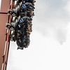 """Eric Bonzar—The Morning Journal<br /> The first 214 feet drop of the """"Valravn"""" is a straight down one."""