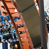 """Eric Bonzar—The Morning Journal<br /> Riders hit one of the inversions on """"Valravn"""" during Cedar Point's media day, May 4, 2016."""