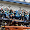 Eric Bonzar—The Morning Journal<br /> Morning Journal guest riders (from left) Matt Dempsey, 34, of Lorain, Michael Harmych, 35, of Lorain, Jennifer Alt, 36, of Rochester N.Y. and Shawn Marie Stitak, 37, of Lorain get ready to experience the Valravn at Cedar Point, May 4, 2016.