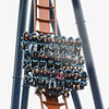 """Eric Bonzar—The Morning Journal<br /> Riders get the chance to be the first to experience Cedar Point's new dive coaster, """"Valravn,"""" during Cedar Point's media day, May 4, 2016."""