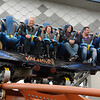 """Eric Bonzar—The Morning Journal<br /> Cedar Point hosted media day, May 4, where journalists and their guests were given the opportunity to ride the park's new dive coaster """"Valravn."""" The park officially opens for guests May 7, 2016."""
