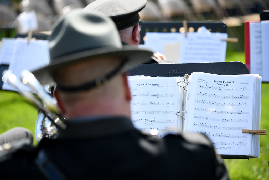 . Eric Bonzar�The Morning Journal<br> Wellington Police Department hosted the Lorain County Police Memorial, held at Howk Memorial Park, May 10, 2018.