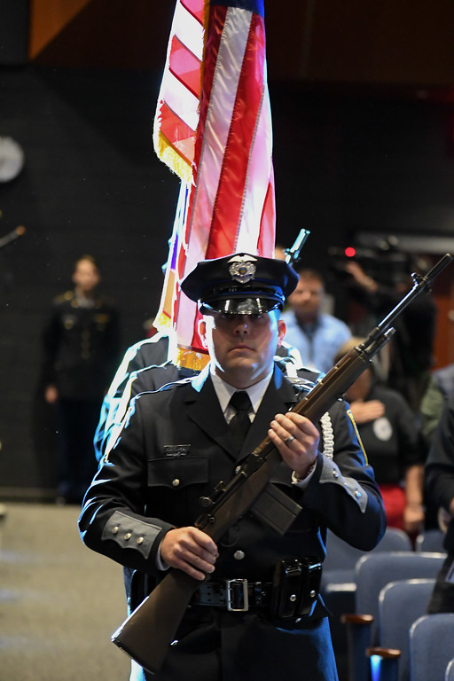 . Eric Bonzar�The Morning Journal The Lorain County Police Memorial Service, which was sponsored by the Police Chiefs Association and hosted by the Lorain Police Department, took place at Lorain High School, 2600 Ashland Ave. in Lorain, May 11, 2017.