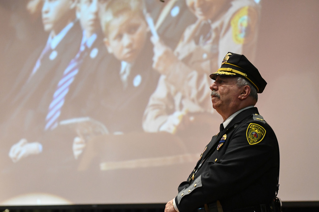. Eric Bonzar�The Morning Journal Police Chief Cel Rivera presented the Call to Order during the Lorain County Police Memorial Service, May 11, 2017.