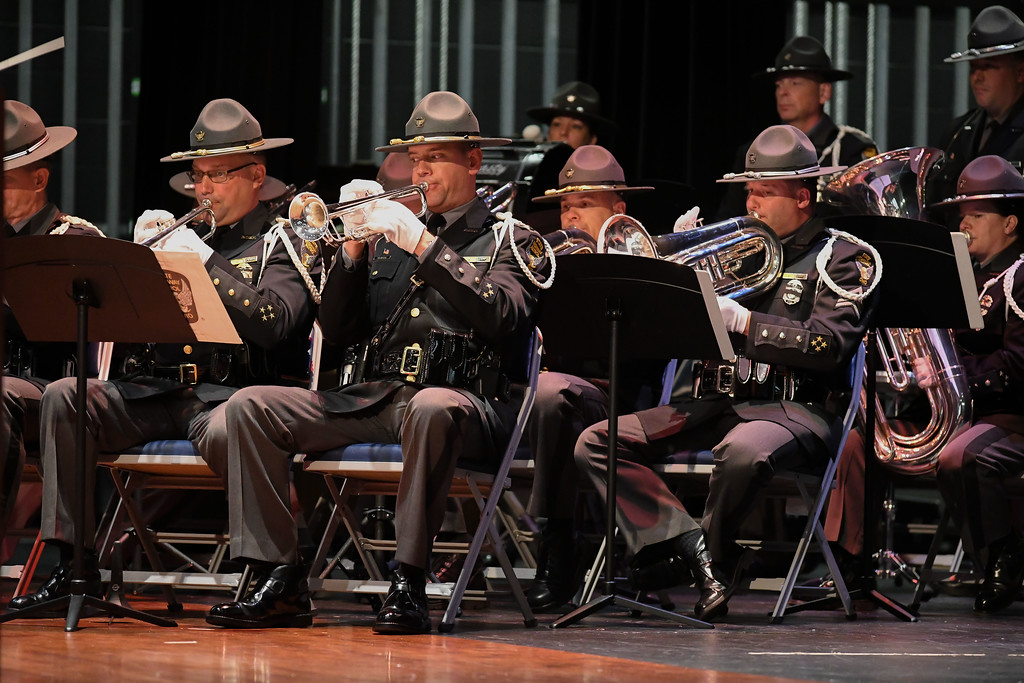 . Eric Bonzar�The Morning Journal The Ohio State Highway Patrol Band perform during the Lorain County Police Memorial Service, May 11, 2017.