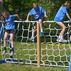 """Eric Bonzar—The Morning Journal<br /> Students at Holy Trinity School, 2610 Nagel Road, Avon, complete the """"Rock the Challenge"""" obstacle course, May 23, 2016."""
