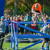 """Eric Bonzar—The Morning Journal<br /> Sixth-grader Peter McGreal, 12, jumps from an obstacle while completing the fourth annual """"Rock the Challenge"""" obstacle course at Holy Trinity School, 2610 Nagel Road, Avon, May 23, 2016."""