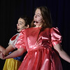 "Eric Bonzar—The Morning Journal<br /> South Amherst Middle School students Abby Landreth, left, and Renee Clippinger portray the roles of Snow White and Goldilocks, during an afternoon performance of ""Princess Whatsername,"" in the school's small gym, March 28, 2017."