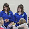 "Eric Bonzar—The Morning Journal<br /> Firelands High School juniors Olivia Novak, left, and Abby Perry, both 17, mingle with guests during the ""Lunch and a Show"" event held at South Amherst Middle School, March 28, 2017. The afternoon event provided an opportunity for students to interact with seniors within the community, by offering a luncheon and a performance of ""Princess Whatsername"" by the seventh and eighth grade choirs."