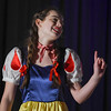 "Eric Bonzar—The Morning Journal<br /> South Amherst Middle School student Abby Landreth portrays the role of Snow White, during an afternoon performance of ""Princess Whatsername,"" in the school's small gym, March 28, 2017."