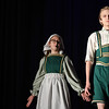 "Eric Bonzar—The Morning Journal<br /> South Amherst Middle School students Jacob Moore and Karis Morales portray the rolls of Hansel and Gretel, during an afternoon performance of ""Princess Whatsername,"" in the school's small gym, March 28, 2017."