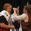 Eric Bonzar—The Morning Journal<br /> The 2016 Lorain International Queen Chloe Mieras, 18, representing the Dutch nationality, is crowned by 2015 Queen Olivia Harasty during the International Association of Lorain's 50th annual Princess Pageant, held at the Lorain Palace Theater, June 23, 2016.