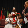 Eric Bonzar—The Morning Journal<br /> Chloe Mieras, 18, representing the Dutch nationality, is named the International Association of Lorain's 50th annual Princess Pageant Queen, June 23, 2016.