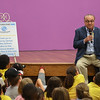 Eric Bonzar—The Morning Journal<br /> Dick Desich tells his story to children at the Oakwood Boys and Girls Club of Lorain County, 4111 Pearl Ave., Lorain, July 12, 2016. The facility was renamed the Boys and Girls Clubs of Lorain County Desich Family Campus in recognition of Dick Desich's contributions to the non-profit organization.