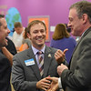 Eric Bonzar—The Morning Journal<br /> Tony Dimacchia, director of operations for the Oakwood Boys and Girls Club, left, Lorain City Schools Superintendent Dr. Jeffery Graham, right, and Lorain Mayor Chase Ritenauer share a laugh.