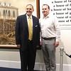 Lake County Comissioner Kevin Malecek with US Senator Utah Mike Lee at Historic Kirtland. {Kristi Garabrandt-The News-Herald}