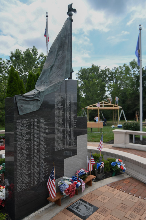 . Eric Bonzar�The Morning Journal Thanks to the fundraising efforts of the American Slovak Club, in Lorain, and the countless volunteers and military veterans who have dedicated their time and talents, the Vietnam Veterans Memorial of Lorain County, 625 N. Lake St., Amherst, will now have a pavilion for those who come to pay their respects to the 98 servicemen who lost their lives during the war.