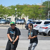 "Eric Bonzar—The Morning Journal<br /> Camp Counselor Gadier Garcia, left, and Lead program Facilitator Jessicka Castro demonstrate how to launch the rockets children made during PACE Foundations' ""Summer of Innovation"" summer camp, Aug. 31, 2017. Rocketry was the theme of the week, Michael Ferrer, vice president of youth development programs for the Lorain PACE Foundation, said."