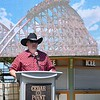 """Eric Bonzar—The Morning Journal<br /> Tony Clark, director of communications for Cedar Point said Cedar Point's new hyper-hybrid coaster """"Steel Vengeance,"""" will be """"meaner and angrier"""" than its predecessor the Mean Streak."""